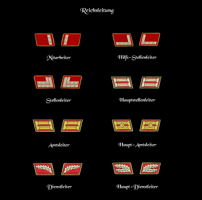 ranks and Insignia - NSDAP